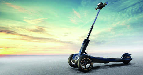 "Three-Wheel Mobility Systems - The Mercane TRANSBOARD v2 is an Eco-Friendly Electric ""Kickscooter"""