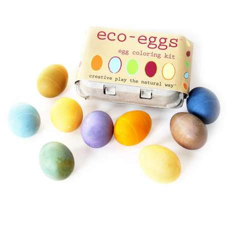 Eco Egg-Dyeing Kits - The Eco-Eggs Carton Teaches Kits to Dye Eggs Naturally