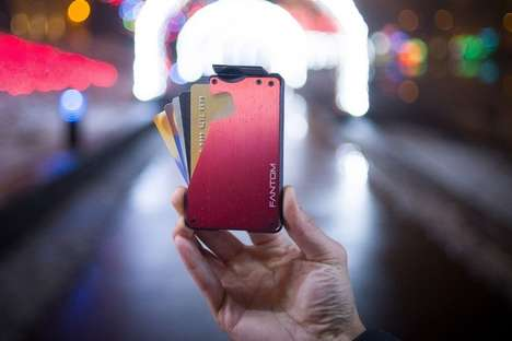 Quick Access Card Wallets - The 'Fantom' Slim Case Wallet Stores Cards, Cash, Coins and More
