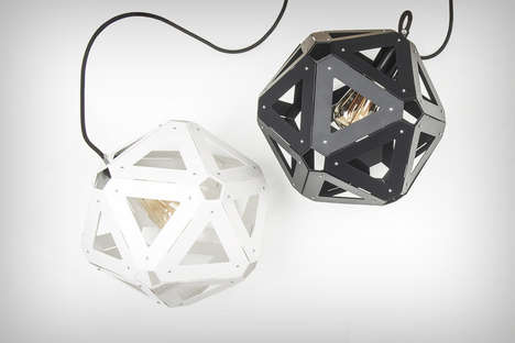 Polyhedron Illumination Lamps - The 'U34' Lamp Allows Light to Spill Out of 20 Triangular Cutouts