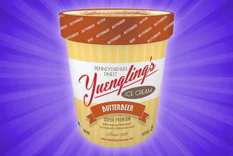 Literature-Inspired Ice Creams - The Yuengling Butterbeer Premium Ice Cream is Harry Potter-Inspired