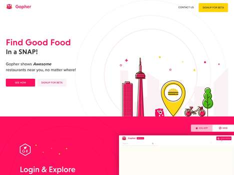 Crowdsourced Food-Finding Apps - 'Gopher' Shows You Places the Best Places Nearby to Grab Food