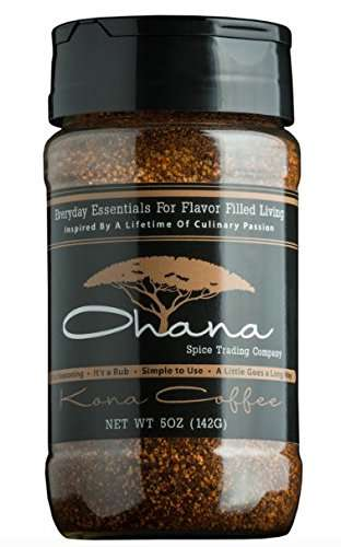 Savory Coffee Seasonings - The Kona Coffee Rub is Ideal for Creating Flavorful Meat Dishes