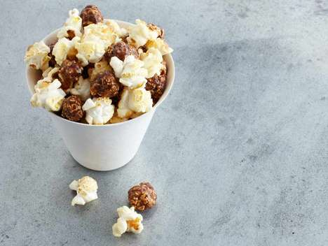 Whole Grain Coffee-Flavored Popcorn - Coffee Kettle Popcorn Offers Both Sweet and Savory Flavors