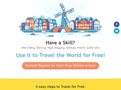 Skill-Based Travel Platforms - 'Stay on Skill' Enables World Traveling for Free by Using Your Skills