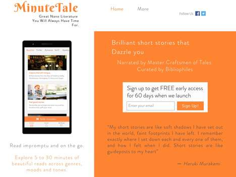 Curated Narrated Story Services - 'MinuteTale' Offers Story Streaming to Quickly Take in a Tale