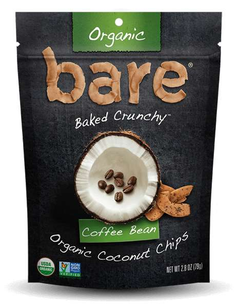 Coffee Bean Coconut Chips - Bare Snacks Offers Foods That Are Both Flavorful and Nutritious