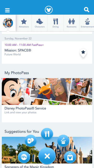 Interactive Theme Park Apps - The 'My Disney Experience' App Customizes the Park Experience