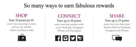 Social Rewards Programs - Lancome's Elite Rewards Engage Consumers Across Social Media