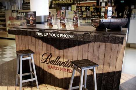 Multi-Sensory Airport Bars - Ballantine's Hard Fired Scotch Whiskey Bar Powers Phones and More