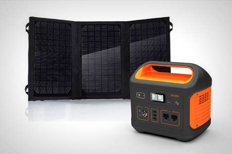 Eco Solar Energy Batteries - The 'Solar Energy Storage Pro' Harnesses the Power of the Sun Outdoors