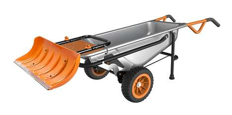 Driveway Plow Attachments - The WORX AeroCart Snow Plow Makes It Easier to Clear Ones Drive