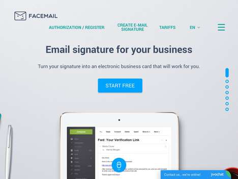 Professional Email Signature Services - 'Facemail' Upgrades Business Correspondence