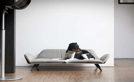 Post-Modern Pet Furniture - The MiaCara Letto Dog Day Beds Look Like a Chic Tiny Sofa for Pets