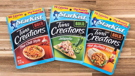 High-Protein Packaged Tuna Flavors - The Starkist Bold Tuna Creations Offer Different Styles of Heat