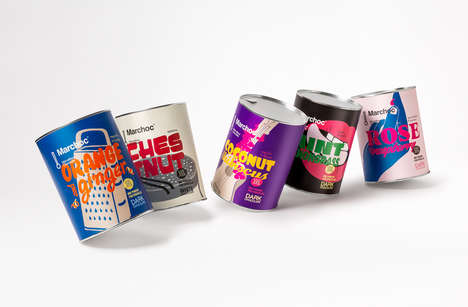 Retro Drinking Chocolate Cans - Marchoc's Packaging Captures the Essence of Distinct Flavors