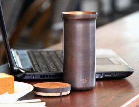 Copper Water-Purifying Containers - The 'COHO' Water Container Uses Natural Antioxidant Power
