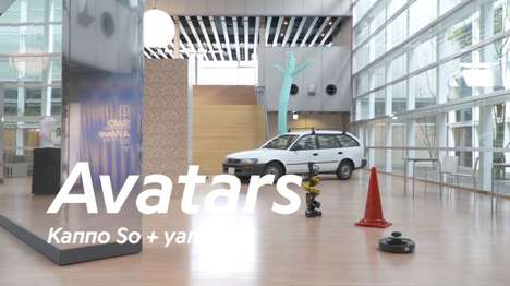 Internet-Connected Art Installations - The Avatars Installation is Controlled by Online Users