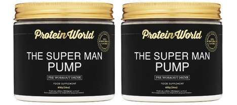 Caffeine-Enriched Supplements - The Protein World 'The Super Man Pump' Pre-Workout Drink is Boosting