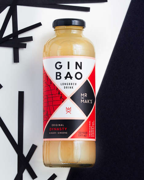 Ginger Broth Beverages - Mr Mak's Gin Bao Drink is Based Off a Traditional Chinese Ginger Beverage