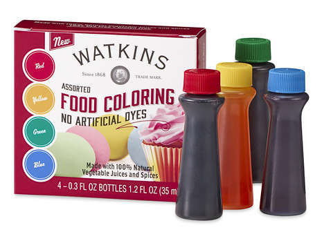 All-Natural Food Coloring Kits - J.R. Watkins' Food Coloring Kit is Free From Artificial Dyes