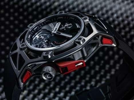 Celebratory Supercar Chronographs - The Techframe Ferrari 70 Years is Limited to 210 Pieces