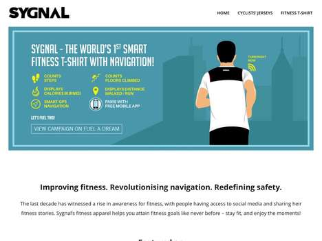 Navigational Fitness Apparel - Startup Sygnal Offers a Fitness-Tracking Tee Equipped with GPS