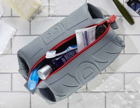 Protective Toiletry Bags - The Würkin Stiffs Toiletry Dopp Bag Keeps Essentials Clean