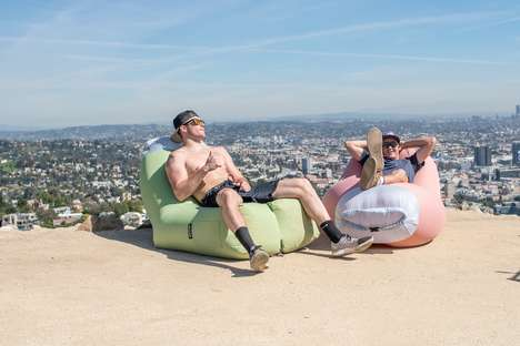 Inflatable Fabric Chairs - The 'Air Lounge' Portable Furniture Instantly Offers an Ergonomic Seat