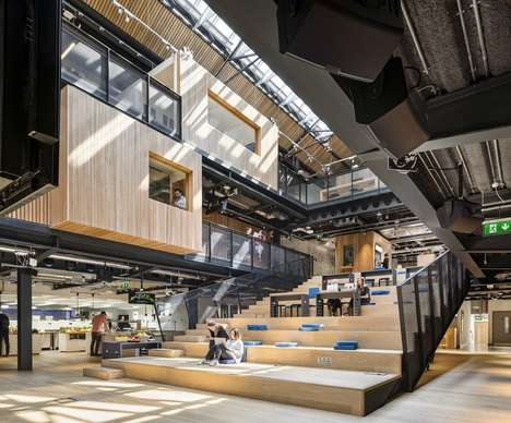 Indoor Campus Offices - The New Dublin Airbnb Office Was Designed to Look like a School Campus