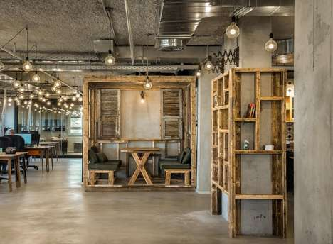 Recycled Wooden Offices - Fiverr Office Was Inspired by the Artistic Nature of Its Business