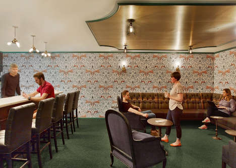 In-Office Speakeasies - The LinkedIn New York Office Features a Hidden Lounge Area