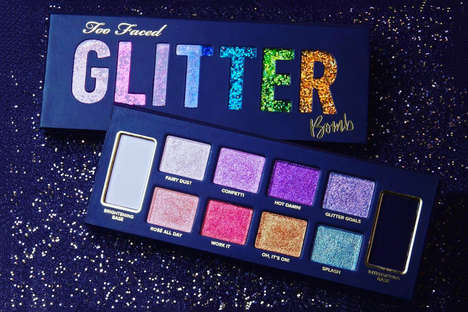 Pigmented Glitter Eye Shadows - The New Glitter Bomb Palette Has Eight Different Shades