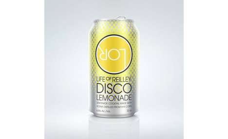 Canned Lemonade Cocktails - 'Disco Lemonade' Features a Base of Vodka and Locally Sourced Mint