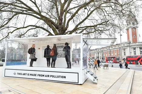 Polluted Art Galleries - This Pop-Up Gallery Exclusively Features Art Made with Air Pollution