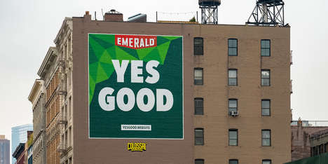 "Customer-Created Taglines - Emerald Nuts' New Tagline, ""Yes Good,"" Was Inspired by a Customer Review"