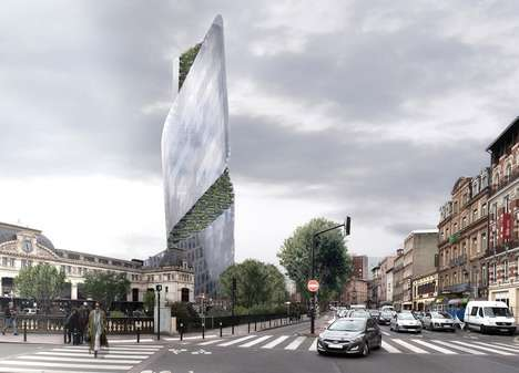 Soaring French Sky Gardens - The Occitanie Tower Will Be the City of Toulouse's First Skyscraper