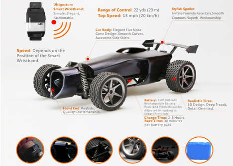 Movement-Tracking RC Cars - This Remote Control Toy Car from Ultigesture Tracks Your Moves