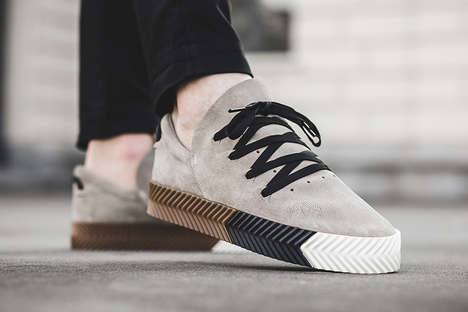 Ultra-Modern Suede Sneakers - adidas Originals Joined for a New Alexander Wang Collaboration