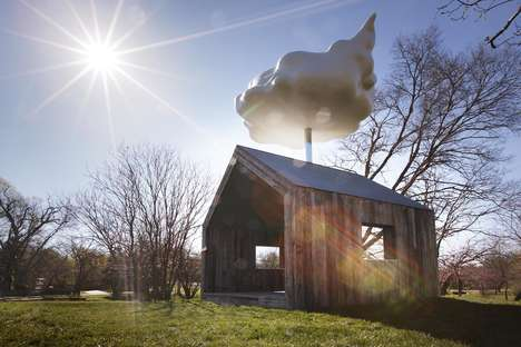 Whimsical Cloud-Topped Houses - Matthew Mazzotta's 'Cloud House' Harvests Rainwater