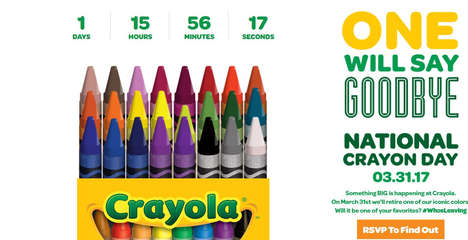 Replacement Crayon Campaigns - The Crayola Who's Leaving Countdown Celebrates the Brand's New Color
