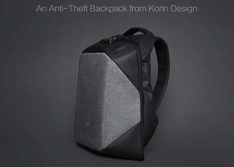 Stylish Anti-Theft Knapsacks - The 'ClickPack Pro' Water-Resistant Backpack Keeps Belongings Safe