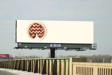 Cryptic TV Billboards - These Mysterious TV Ads Celebrate the Return of David Lynch's Twin Peaks
