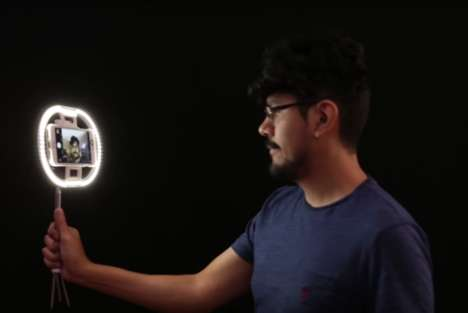 DIY Selfie Lights - Adafruit's 3D Printed Project Helps to Enhance One's Phone Photography