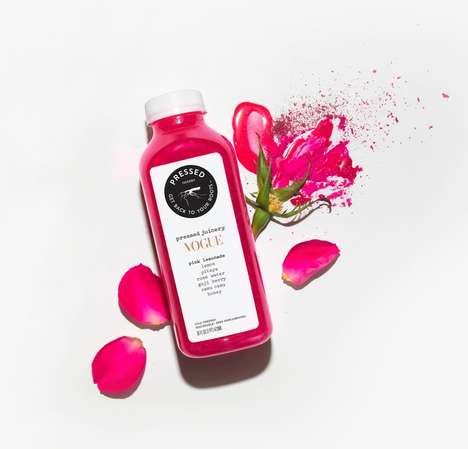 Colorful Co-Branded Lemonades - Pressed Juicery and Vogue Teamed Up to Make Vibrant Juice Lemonades