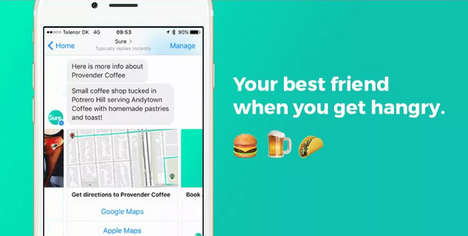 A.I.-Powered Restaurant Finders - The Sure Chatbot Uses Instagram to Make Restaurant Recommendations