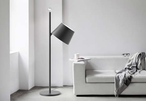 Shifting Shade Lamps - The 'FLAVOURS S01E01' Standing Floor Lamp Features a Removable Shade