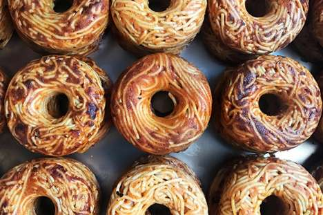 Italian Cuisine Baked Donuts - The Pop Pasta Spaghetti Donuts are an Indulgent Snack Option