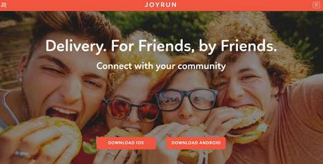 Crowdsourced Food Delivery Apps - JoyRun Lets Users Pick Up Food from Restaurants for Others