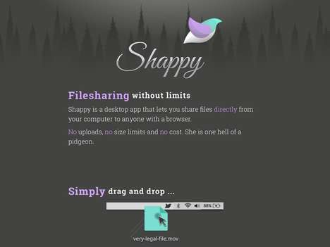 Limitless File Sharing Apps - The 'Shappy' Desktop Application Doesn't Require Uploading to Share